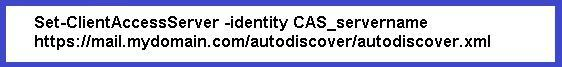 Autodiscover and Exchange 2007