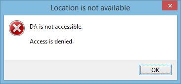 hard drive inaccessible