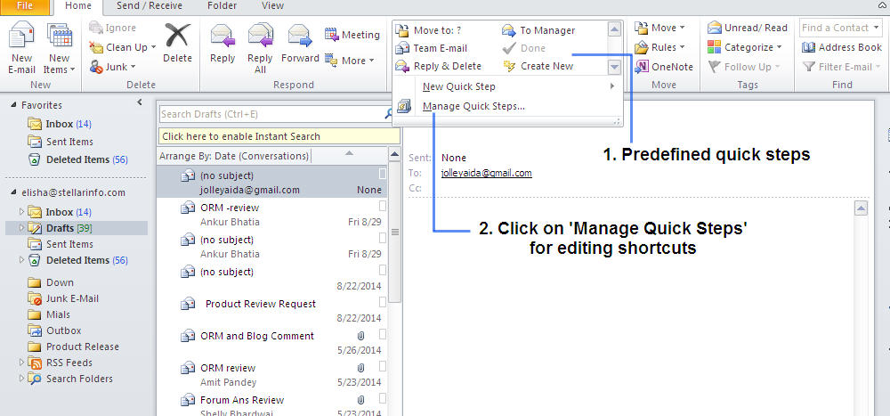 Automate the recurrent task with shortcuts
