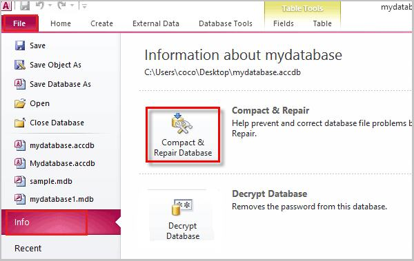 Solved - How To Repair Microsoft Access Database File and