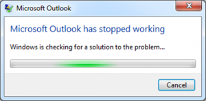 Falha no Outlook