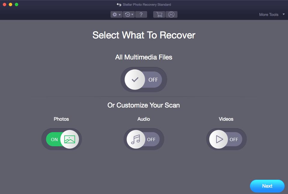 Stellar Photo Recovery Mac- Select Photos
