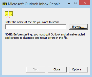 Find Scanpst.exe Location in Outlook 2019 to Outlook 2007
