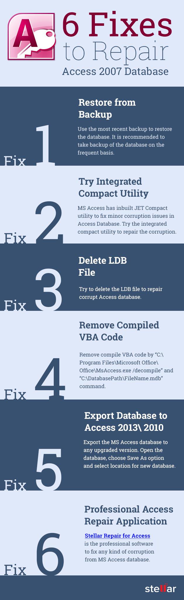 top 6 fixes to repair access database