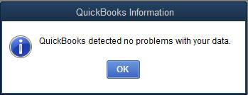 QuickBooks Rebuild not responding