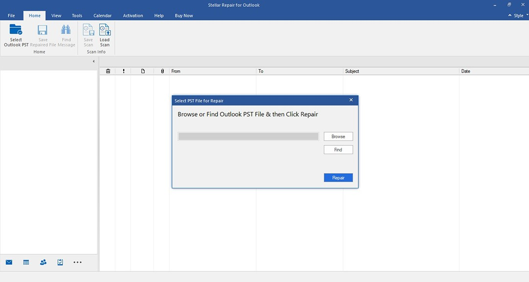 Select PST File