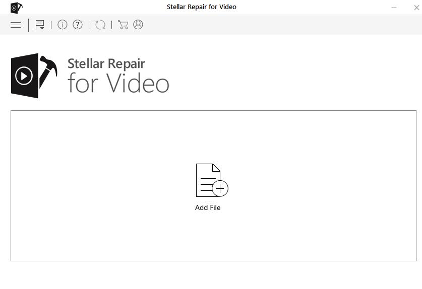 Stellar Repair for Video - Add Files