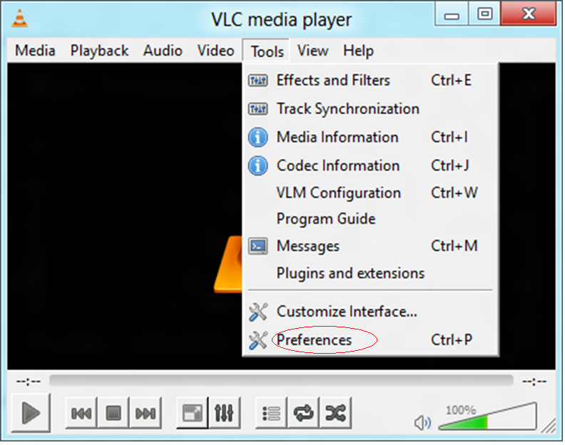 fix corrupt MTS file in VLC Media Player - VLC Preferences