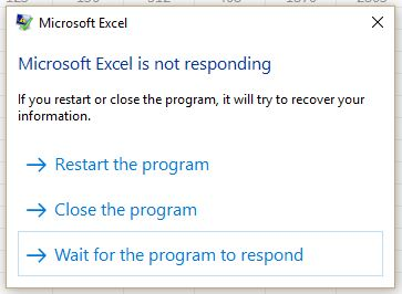 How to fix Microsoft Excel 2016 is not responding error