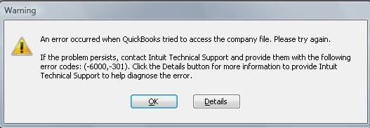 Error Code -6000 -301