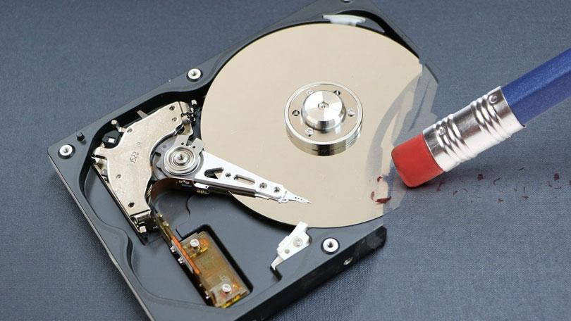 how to retore erased from hard drive