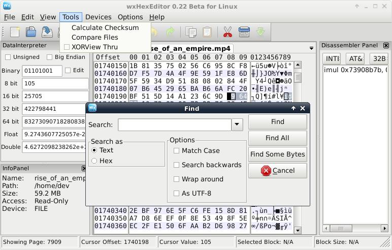 repair corrupt 3gp files with hexeditor