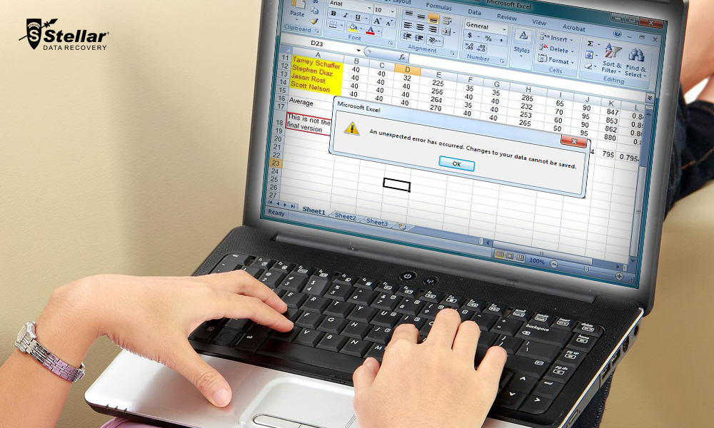 How to Fix An Unexpected Error in Microsoft Excel?