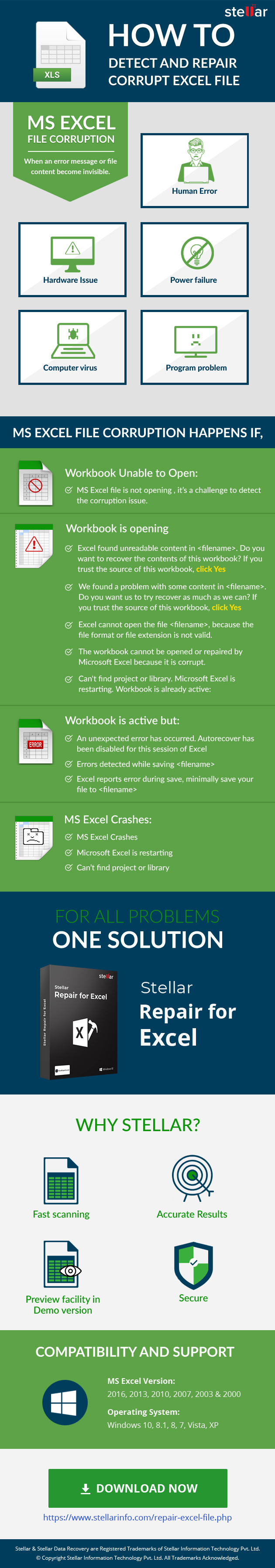 Detect and Repair corruption of MS Excel File