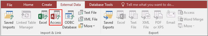 Import Access Database