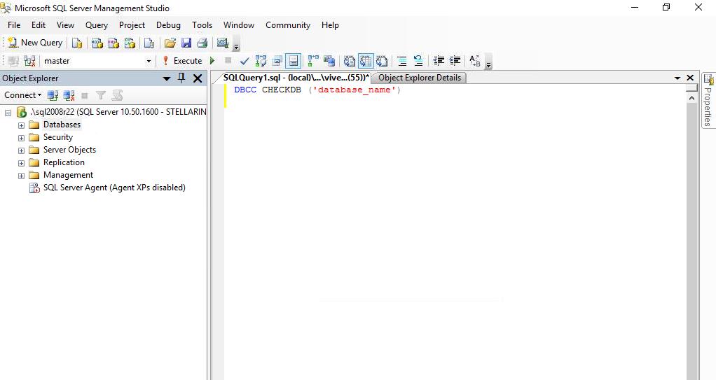 Check SQL Database Consistency