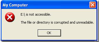 inaccessible memory card