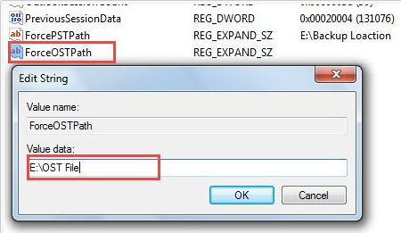 Edit String to enter value name and value data