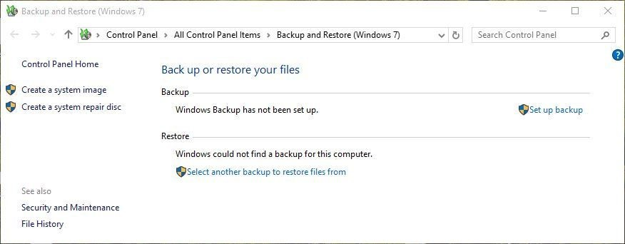 Recover Deleted Files from PC using Backup