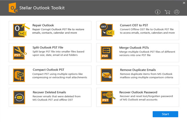 Repair and Manage Outlook PST Files using Stellar Outlook