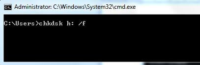 Resolve the issue using Command Prompt chkdsk command