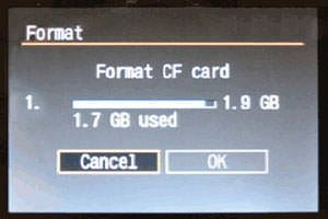 Format memory Card