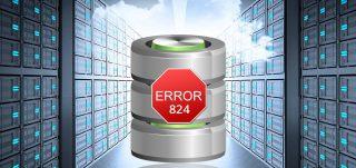 SQL database error 824