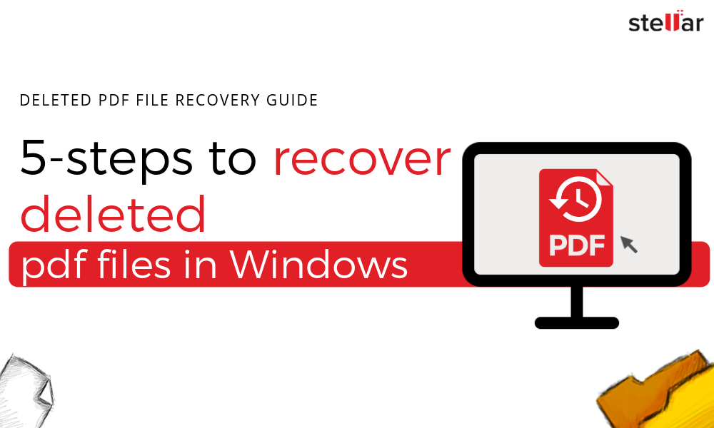 Recover Erased/Deleted PDF File on Windows PC/Laptop