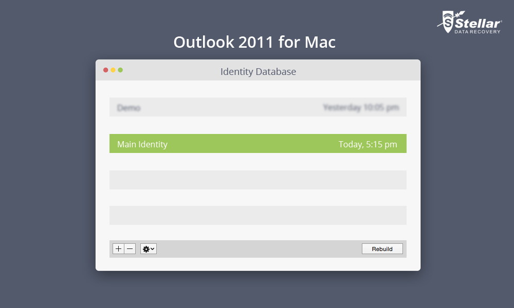 How to resolve inaccessible identities problem in Outlook for Mac 2011?