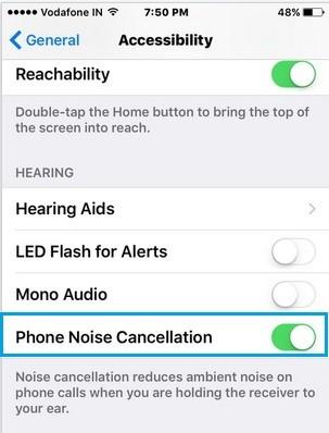 Phone Noise Cancellation option