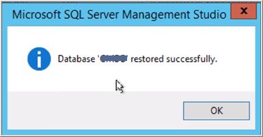 Restore database SQL Server