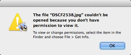 How to fix ''jpg file couldn't be opened because you don't have permission to view it' error