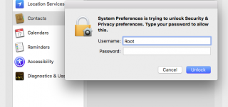 Mac root login security bug - solved
