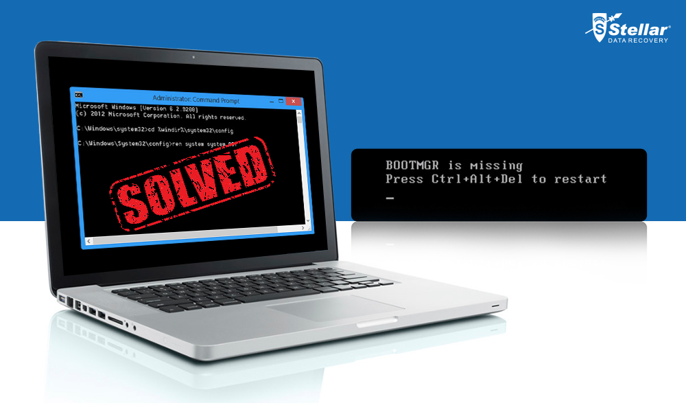 Solved BOOTMGR is Missing Error and Recover lost data from it