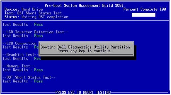 Pre-boot system assessment (psa) diagnostics and error codes for.