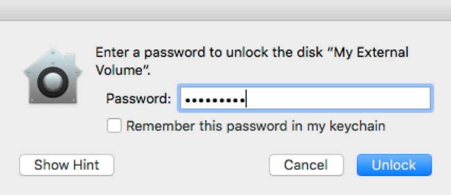 unlock and repair encrypted drive