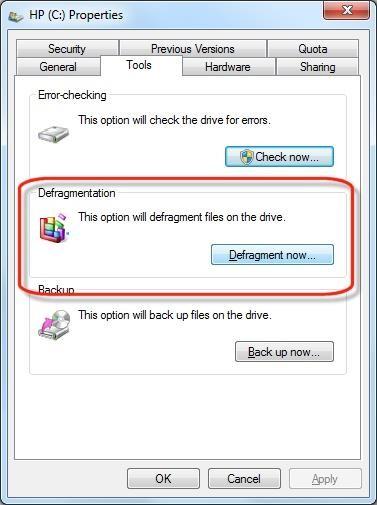 Defragment Disk
