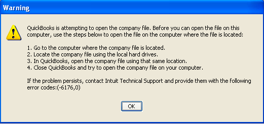 How to resolve QuickBooks Error 6176?