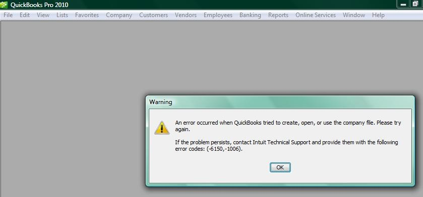 How to Fix QuickBooks error 6150?