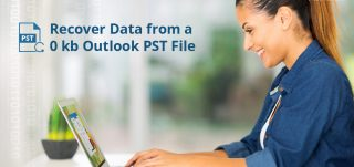 recover data from 0 kb pst