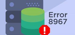 SQL database error 8967