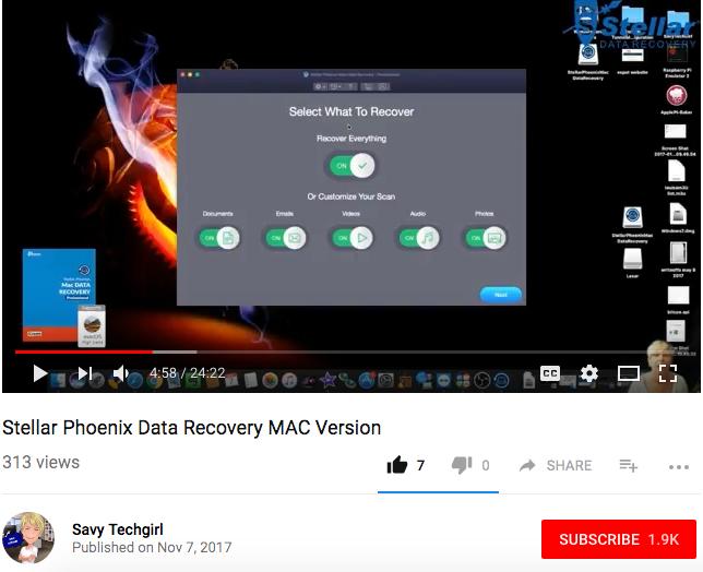 Stellar Mac Data Recovery - SavyTechGirl