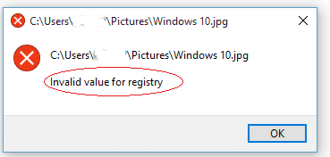 "7 Ways to Restore JPG/JPEG with ""Invalid Value for Registry"" Error"