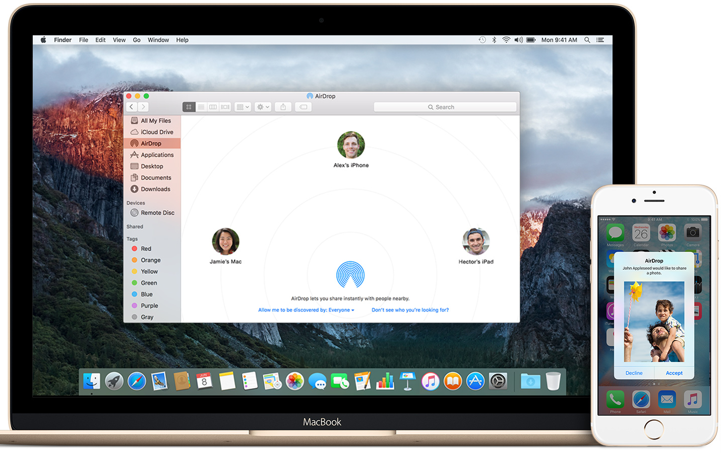 Transfer Mac files to iPhone via AirDrop