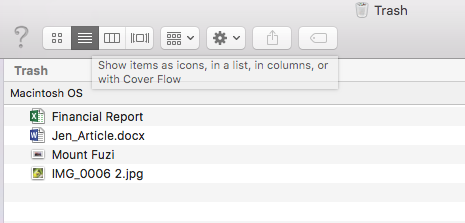 How To Search Deleted File Types In Trash On Mac