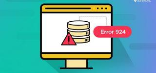 SQL database error 924