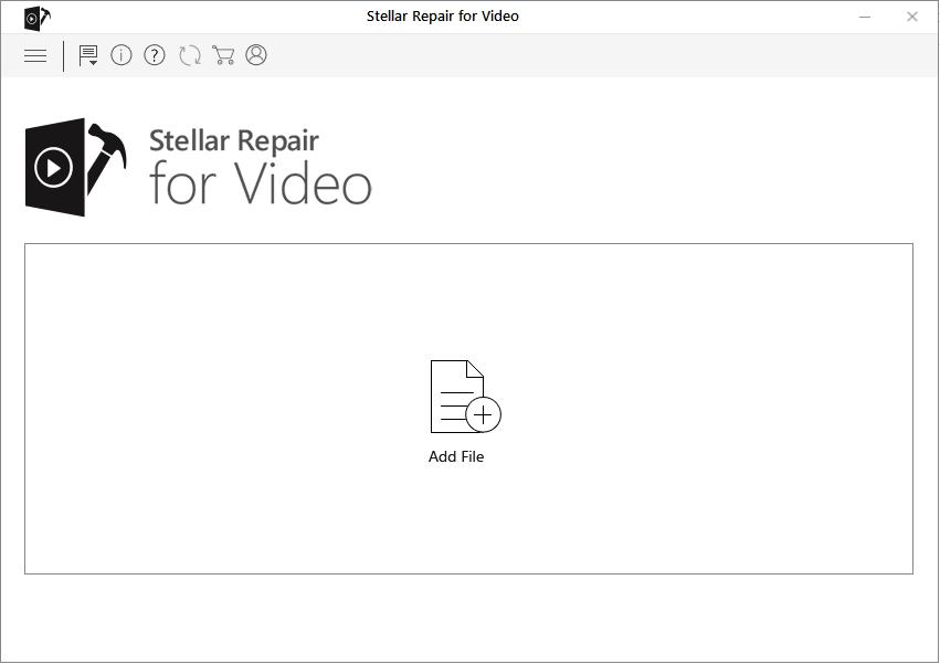 Stellar Repair for Video - Add File