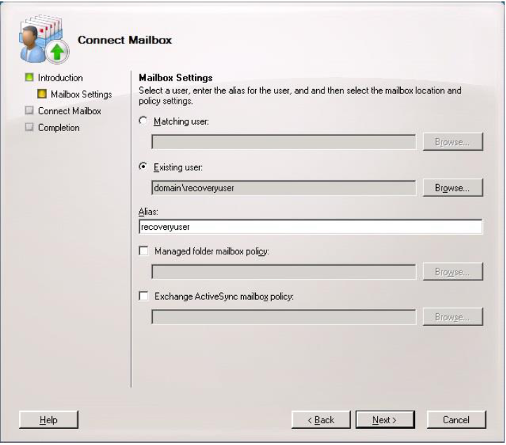 Export disconnected Exchange Mailbox to PST