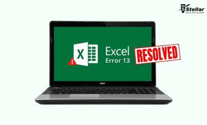 Excel Runtime error 13