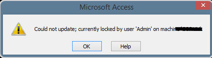 Best solutions to handle MS Access database error 3218